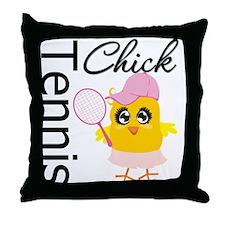 Tennis Chick Throw Pillow