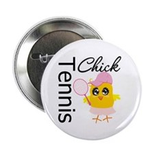 "Tennis Chick 2.25"" Button"