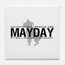 Mayday Pit Bull Rescue & Advo Tile Coaster