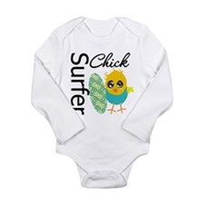 Surfer Chick Long Sleeve Infant Bodysuit