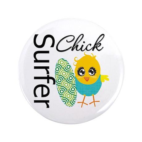 "Surfer Chick 3.5"" Button"