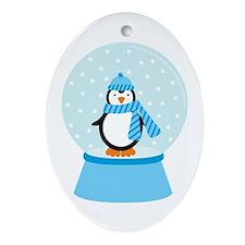 Unique Christmas snowglobe Ornament (Oval)