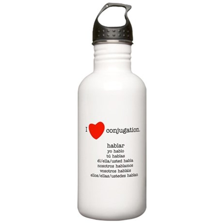 I heart conjugation Stainless Water Bottle 1.0L