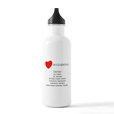 I heart conjugation Water Bottle