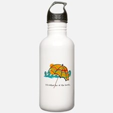I'd rather be at the beach Sports Water Bottle