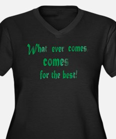 Cute Wishing to be friends is quick work but friendship Women's Plus Size V-Neck Dark T-Shirt