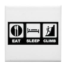 eat seep climb Tile Coaster