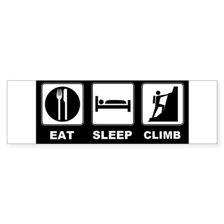 eat seep climb Sticker (Bumper)