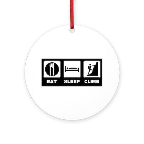 eat seep climb Ornament (Round)