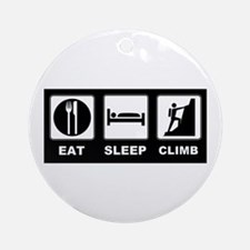 eat seep climb Ornament (Round)