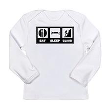 eat seep climb Long Sleeve Infant T-Shirt