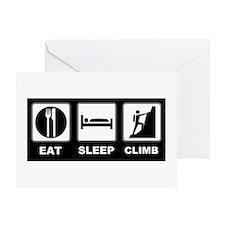 eat seep climb Greeting Card