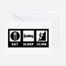 eat seep climb Greeting Card