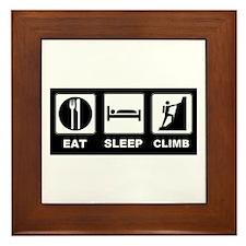 eat seep climb Framed Tile