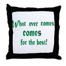Cute Wishing to be friends is quick work but friendship Throw Pillow