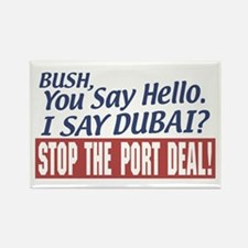 Stop Dubai Port Deal Rectangle Magnet