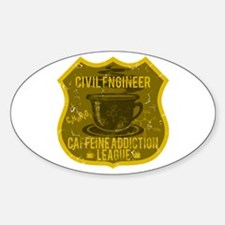 Civil Engineer Caffeine Addiction Decal
