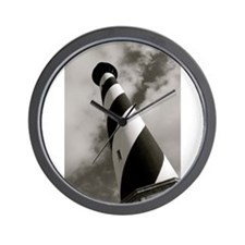 Black and White Hatteras Wall Clock