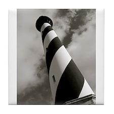 Black and White Hatteras Tile Coaster