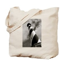 Black and White Hatteras Tote Bag