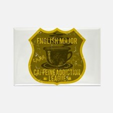 English Major Caffeine Addiction Rectangle Magnet