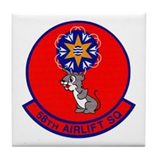 58th Airlift Squadron Tile Coaster