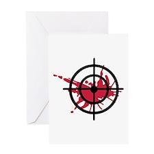 Crosshairs blood Greeting Card