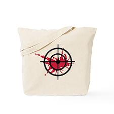 Crosshairs blood Tote Bag