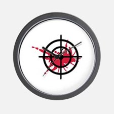 Crosshairs blood Wall Clock