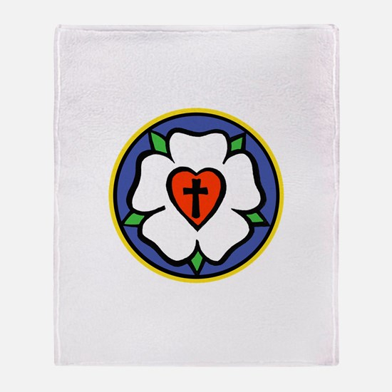 Luther Rose Throw Blanket