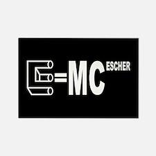 E=MC Escher Rectangle Magnet