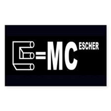 E=MC Escher Decal