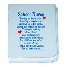 School Nurse baby blanket
