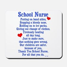 School Nurse Mousepad