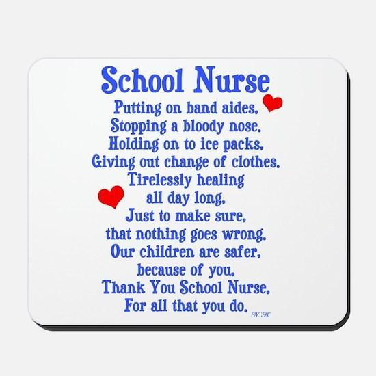 School Nurse Mousepad