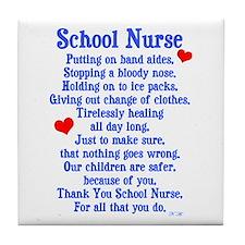 School Nurse Tile Coaster