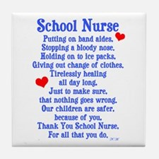 School Nurse Tile Coaster