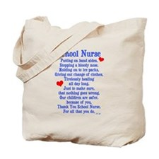 School Nurse Tote Bag