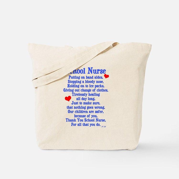 School Nurse Tote Bag
