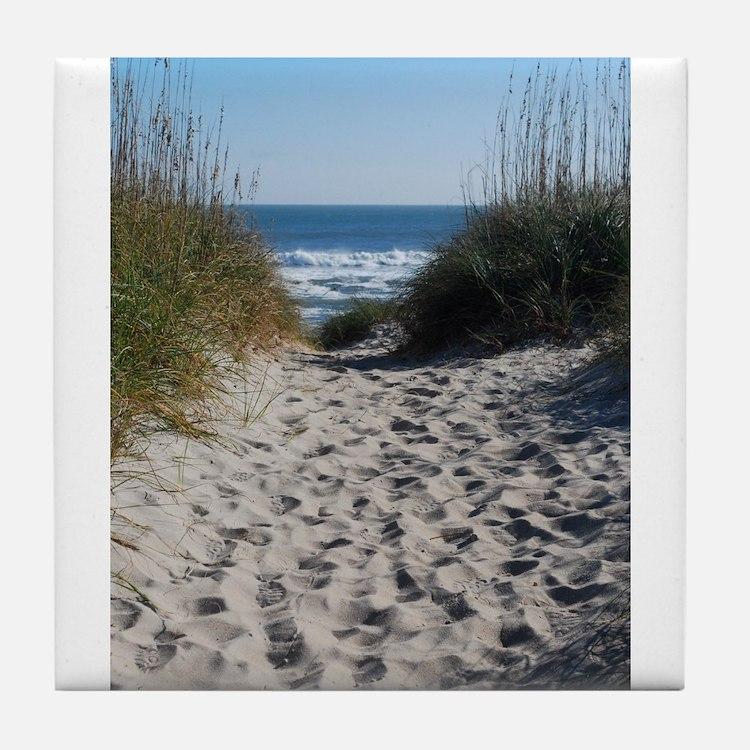 Sandy Serenity Tile Coaster
