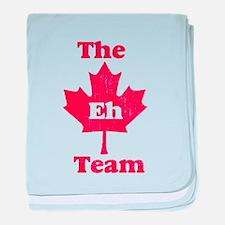 Vintage Team Eh baby blanket