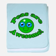 Peas are awesome baby blanket