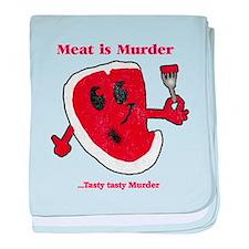 Distressed Meat is Murder baby blanket
