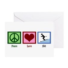 Peace Love Ski Greeting Card