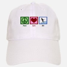 Peace Love Ski Baseball Baseball Cap