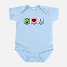 Peace Love Ski Infant Bodysuit