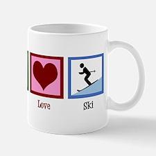 Peace Love Ski Mug