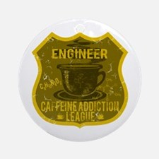 Engineer Caffeine Addiction Ornament (Round)
