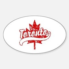 Toronto Canada Sticker (Oval)