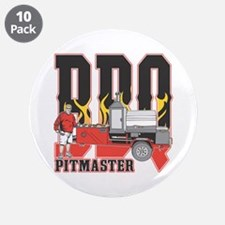 """BBQ Pit master 3.5"""" Button (10 pack)"""
